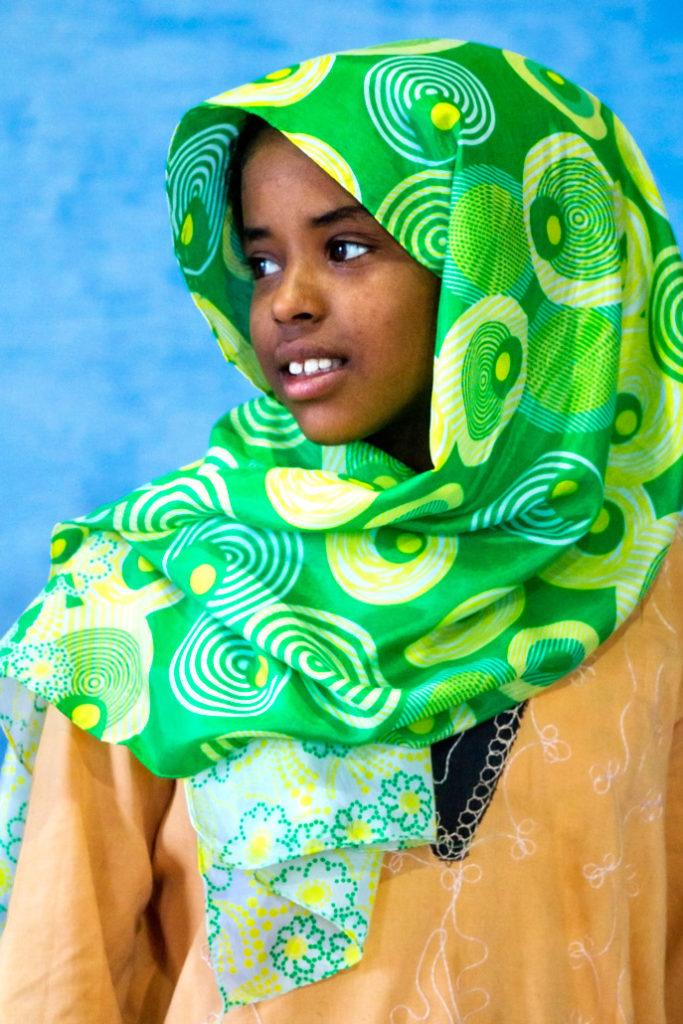 Nubian girl in Aswan, Egypt