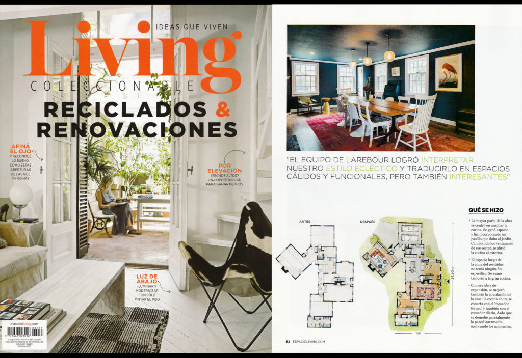 Interior Design photographs for Larebour Architecture & interior design firm. LIVING magazine. November 2016