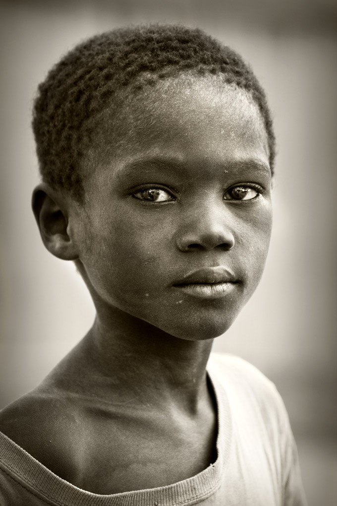 Portrait of a boy - Duclos Community, Haiti