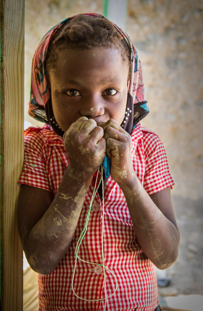 Portrait of a girl - Duclos Community, Haiti
