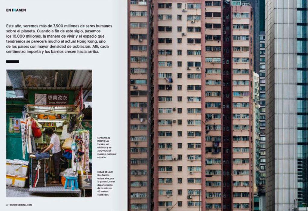 "Hong Kong's photographs for ""Rumbos"" Magazine"