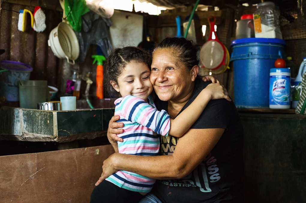 Marcia and her grand daughter Naomi  are getting a new house. Escazú, Costa Rica