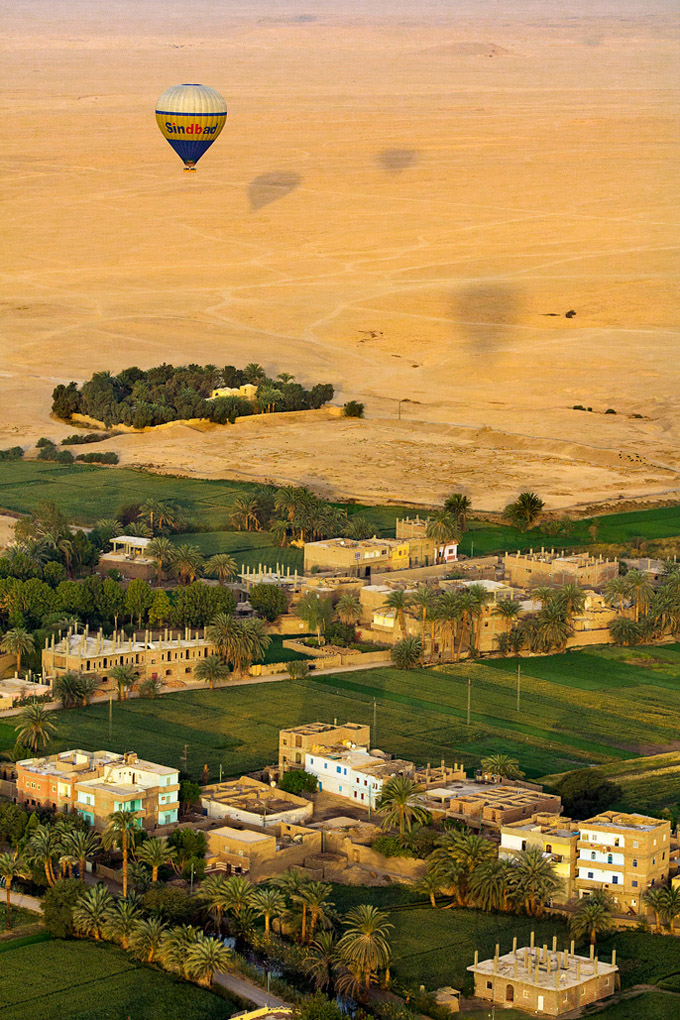 Aerial View of Valley of the Kings on the West Bank of the Nile, Egypt