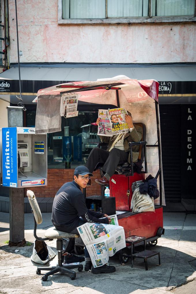 Shoe Shining - Mexico City