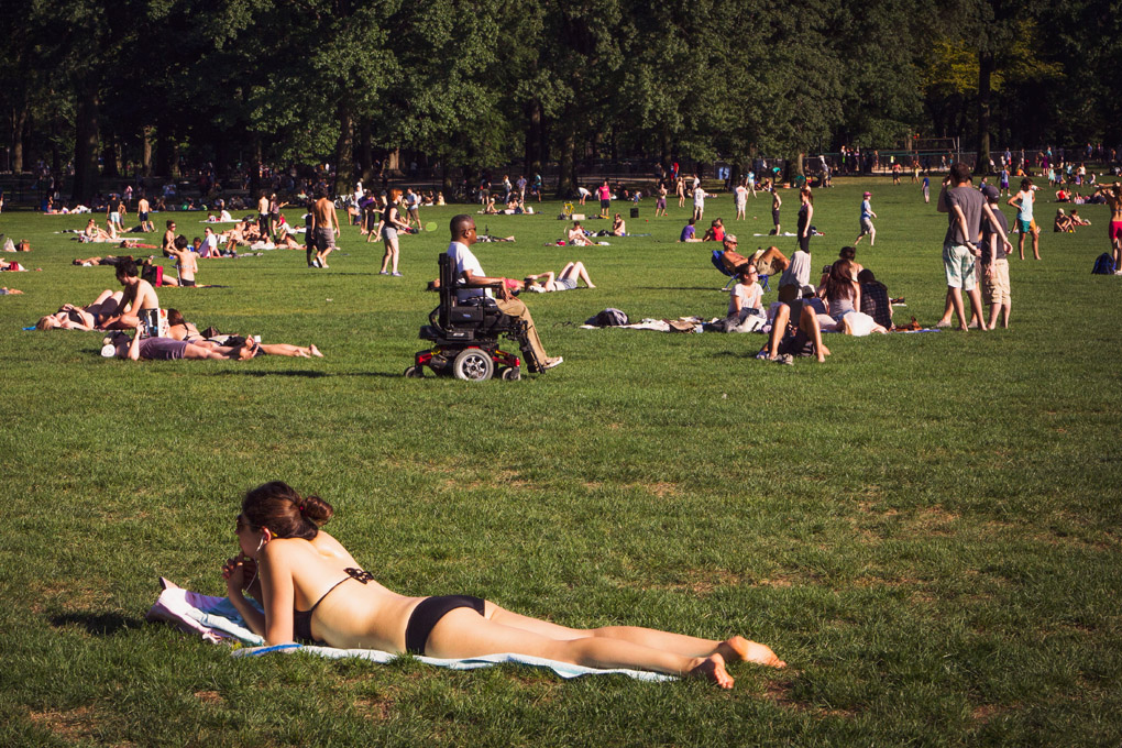 Enjoying the sun - New York, USA
