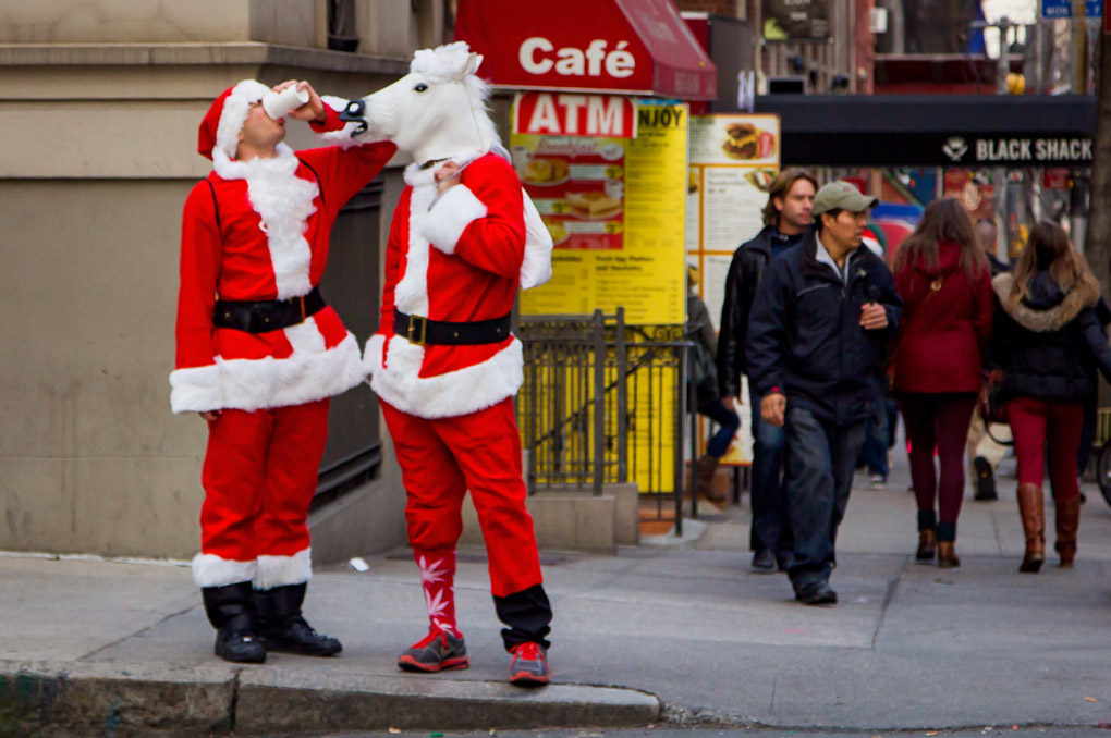 Pit Stop - New York's Santacon, USA