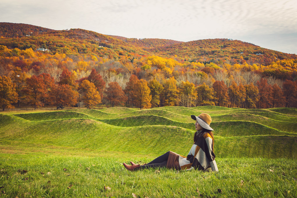 Feeling the green waves - Storm King Art Center, New York, USA