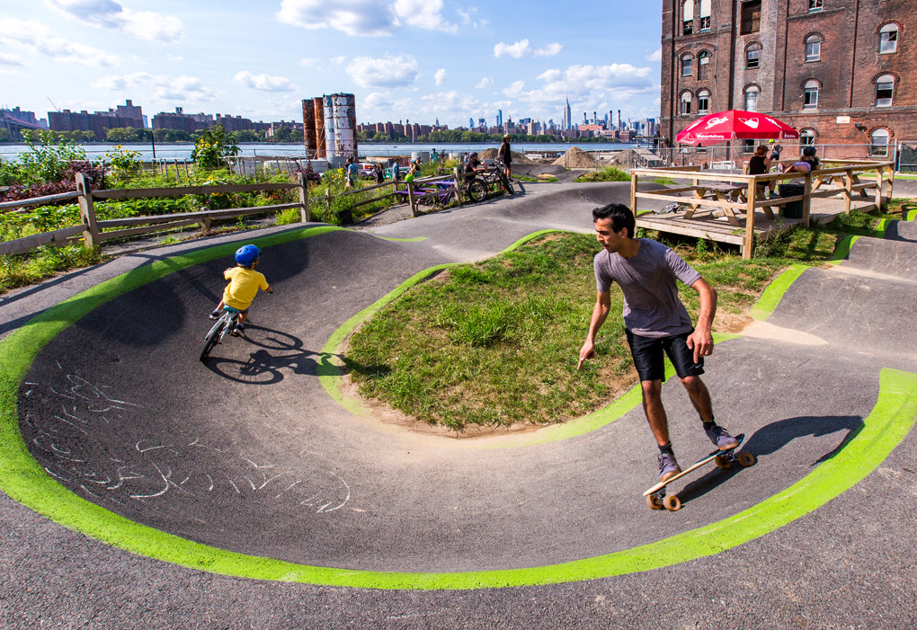 Domino's Pump Track - Brooklyn, NY, USA