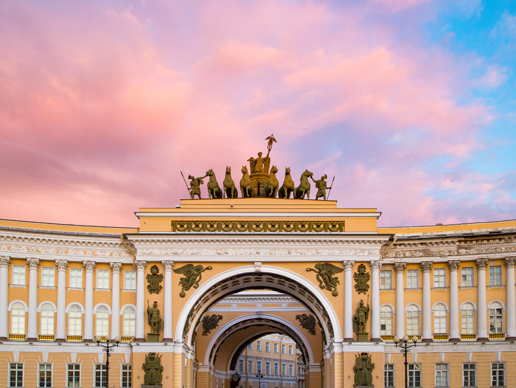 The arch of the General Staff Building, Saint Petersburg, Russia
