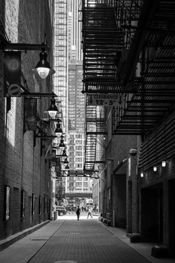 Theater District's alleys - Chicago, USA