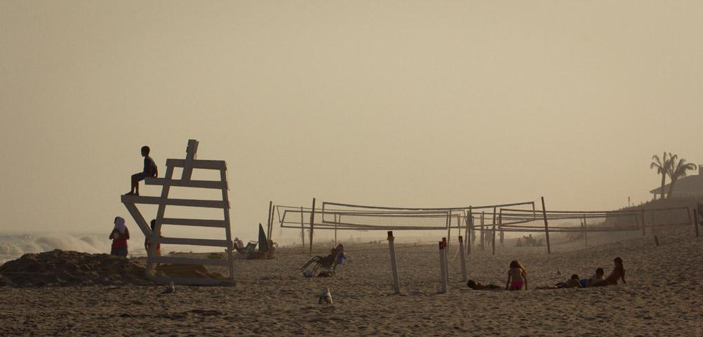 Foggy Sunset in Hamptons - New York, USA