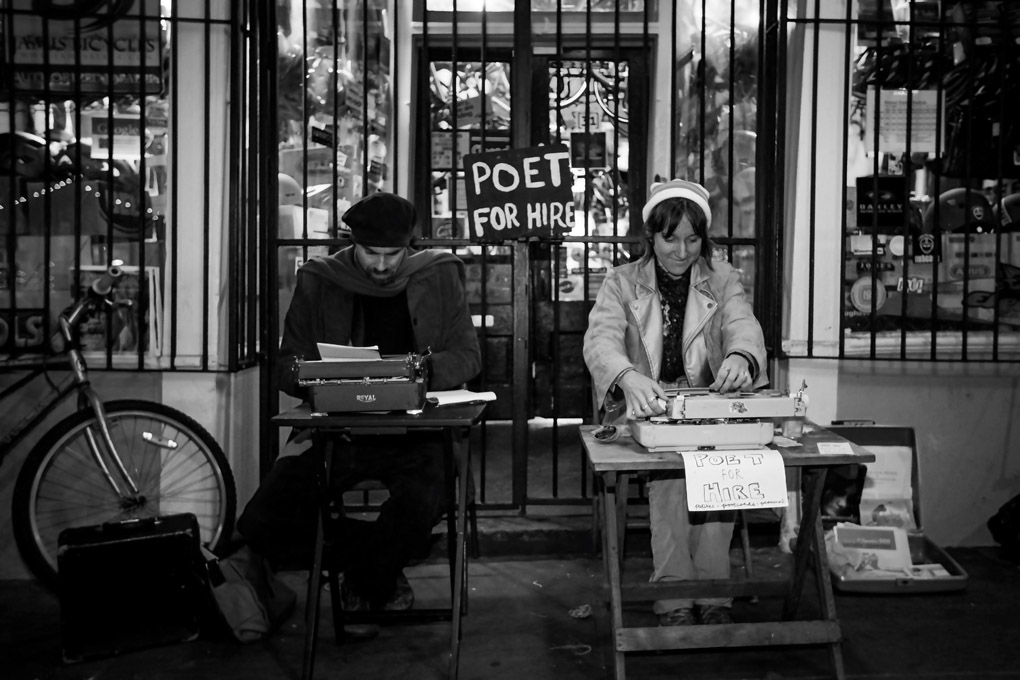 Poet for Hire - New Orleans, USA