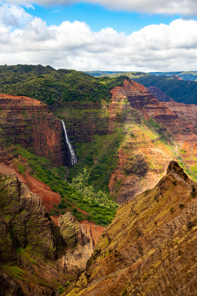 Waipoo Falls at the Waimea Canyon, Kauai, Hawaii